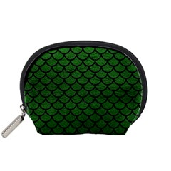 Scales1 Black Marble & Green Leather (r) Accessory Pouches (small)