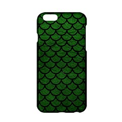 Scales1 Black Marble & Green Leather (r) Apple Iphone 6/6s Hardshell Case