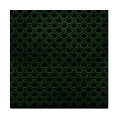 Scales2 Black Marble & Green Leatherscales2 Black Marble & Green Leather Tile Coasters