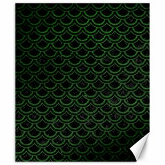 Scales2 Black Marble & Green Leatherscales2 Black Marble & Green Leather Canvas 20  X 24