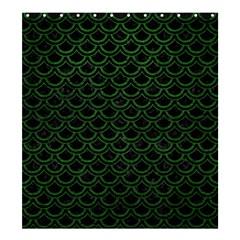 Scales2 Black Marble & Green Leatherscales2 Black Marble & Green Leather Shower Curtain 66  X 72  (large)