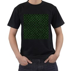 Scales2 Black Marble & Green Leatherscales2 Black Marble & Green Leather Men s T Shirt (black)