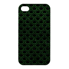 Scales2 Black Marble & Green Leatherscales2 Black Marble & Green Leather Apple Iphone 4/4s Hardshell Case