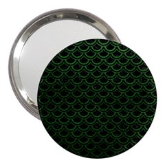 Scales2 Black Marble & Green Leatherscales2 Black Marble & Green Leather 3  Handbag Mirrors