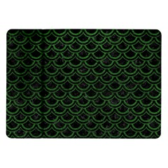 Scales2 Black Marble & Green Leatherscales2 Black Marble & Green Leather Samsung Galaxy Tab 10 1  P7500 Flip Case