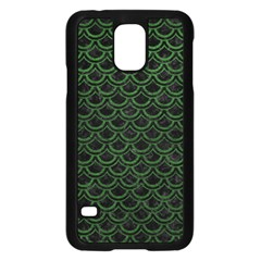 Scales2 Black Marble & Green Leatherscales2 Black Marble & Green Leather Samsung Galaxy S5 Case (black)