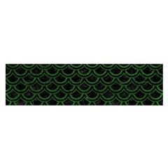 Scales2 Black Marble & Green Leatherscales2 Black Marble & Green Leather Satin Scarf (oblong)