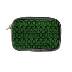 Scales2 Black Marble & Green Leather (r) Coin Purse