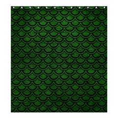 Scales2 Black Marble & Green Leather (r) Shower Curtain 66  X 72  (large)