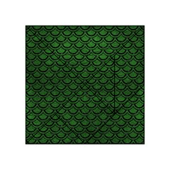 Scales2 Black Marble & Green Leather (r) Acrylic Tangram Puzzle (4  X 4 )