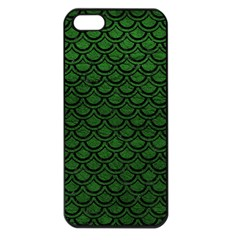 Scales2 Black Marble & Green Leather (r) Apple Iphone 5 Seamless Case (black)