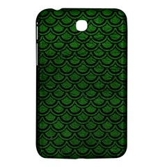 Scales2 Black Marble & Green Leather (r) Samsung Galaxy Tab 3 (7 ) P3200 Hardshell Case