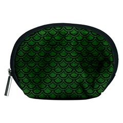 Scales2 Black Marble & Green Leather (r) Accessory Pouches (medium)
