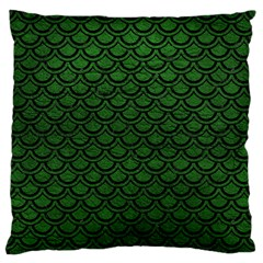 Scales2 Black Marble & Green Leather (r) Standard Flano Cushion Case (one Side)