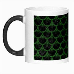 Scales3 Black Marble & Green Leather Morph Mugs