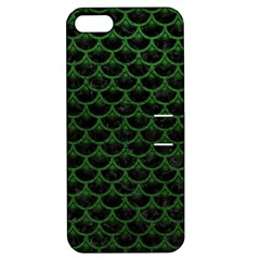Scales3 Black Marble & Green Leather Apple Iphone 5 Hardshell Case With Stand