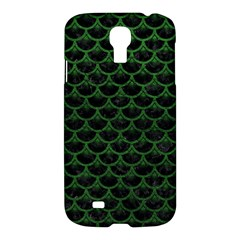 Scales3 Black Marble & Green Leather Samsung Galaxy S4 I9500/i9505 Hardshell Case