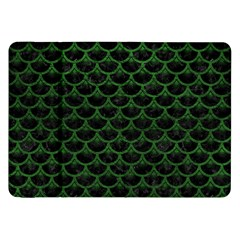 Scales3 Black Marble & Green Leather Samsung Galaxy Tab 8 9  P7300 Flip Case
