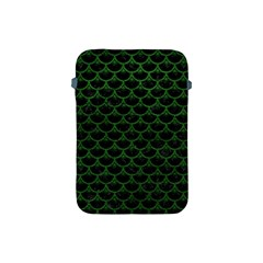 Scales3 Black Marble & Green Leather Apple Ipad Mini Protective Soft Cases