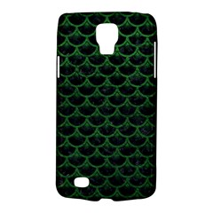Scales3 Black Marble & Green Leather Galaxy S4 Active