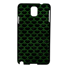 Scales3 Black Marble & Green Leather Samsung Galaxy Note 3 N9005 Hardshell Case