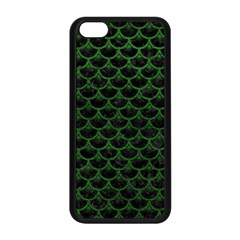 Scales3 Black Marble & Green Leather Apple Iphone 5c Seamless Case (black)