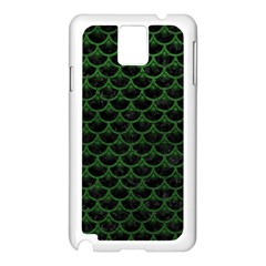 Scales3 Black Marble & Green Leather Samsung Galaxy Note 3 N9005 Case (white)