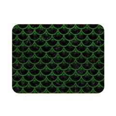 Scales3 Black Marble & Green Leather Double Sided Flano Blanket (mini)