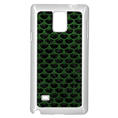 Scales3 Black Marble & Green Leather Samsung Galaxy Note 4 Case (white)