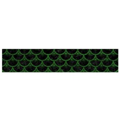 Scales3 Black Marble & Green Leather Flano Scarf (small)