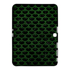 Scales3 Black Marble & Green Leather Samsung Galaxy Tab 4 (10 1 ) Hardshell Case