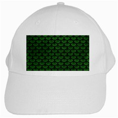 Scales3 Black Marble & Green Leather (r) White Cap