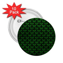 Scales3 Black Marble & Green Leather (r) 2 25  Buttons (10 Pack)