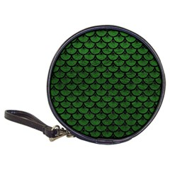 Scales3 Black Marble & Green Leather (r) Classic 20 Cd Wallets