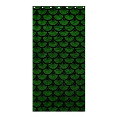 Scales3 Black Marble & Green Leather (r) Shower Curtain 36  X 72  (stall)