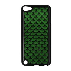 Scales3 Black Marble & Green Leather (r) Apple Ipod Touch 5 Case (black)