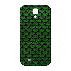 Scales3 Black Marble & Green Leather (r) Samsung Galaxy S4 I9500/i9505  Hardshell Back Case