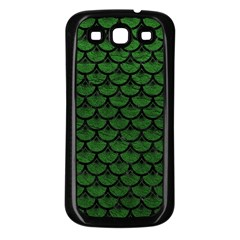 Scales3 Black Marble & Green Leather (r) Samsung Galaxy S3 Back Case (black)