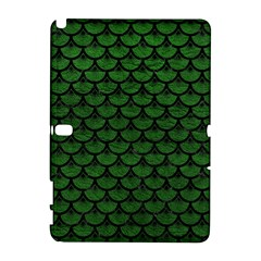 Scales3 Black Marble & Green Leather (r) Galaxy Note 1