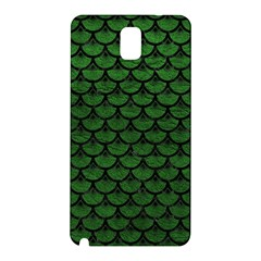 Scales3 Black Marble & Green Leather (r) Samsung Galaxy Note 3 N9005 Hardshell Back Case