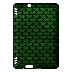 Scales3 Black Marble & Green Leather (r) Kindle Fire Hdx Hardshell Case