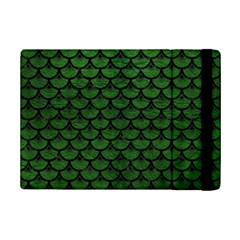 Scales3 Black Marble & Green Leather (r) Ipad Mini 2 Flip Cases