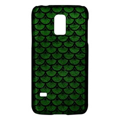 Scales3 Black Marble & Green Leather (r) Galaxy S5 Mini