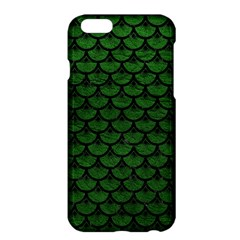 Scales3 Black Marble & Green Leather (r) Apple Iphone 6 Plus/6s Plus Hardshell Case