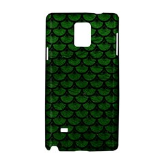 Scales3 Black Marble & Green Leather (r) Samsung Galaxy Note 4 Hardshell Case