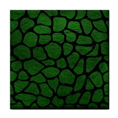 Skin1 Black Marble & Green Leather Tile Coasters