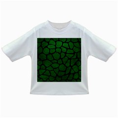Skin1 Black Marble & Green Leather Infant/toddler T Shirts