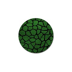 Skin1 Black Marble & Green Leather Golf Ball Marker