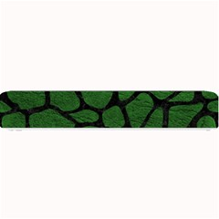 Skin1 Black Marble & Green Leather Small Bar Mats