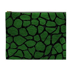 Skin1 Black Marble & Green Leather Cosmetic Bag (xl)